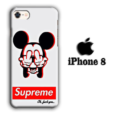 Supreme Mickey iPhone 8 3D coque custodia fundas