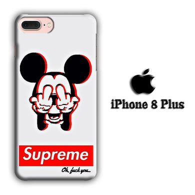 Supreme Mickey iPhone 8 Plus 3D coque custodia fundas