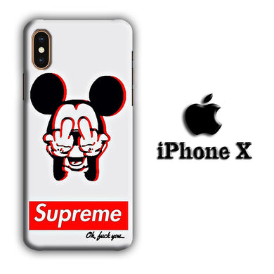 Supreme Mickey iPhone X 3D coque custodia fundas