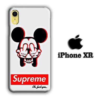 Supreme Mickey iPhone XR 3D coque custodia fundas