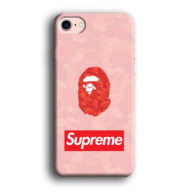 Supreme in Bape World iPhone 8 3D coque custodia fundas
