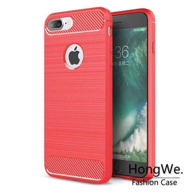 Coque iPhone 8 Plus Fibre de Carbone Texture Design Antichoc Anti