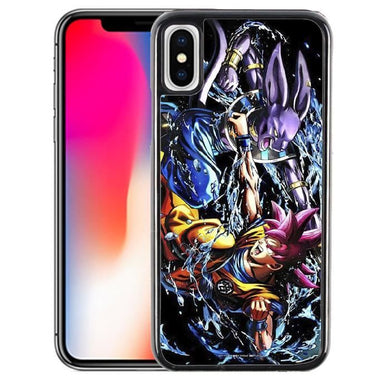 Coque iPhone X Dragon Ball Goku vs Beerus
