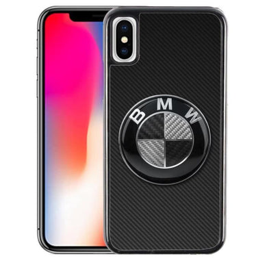Coque iPhone XS Max BMW Logo Carbone