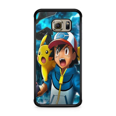 Coque Samsung Galaxy S6 EDGE Pokemon go team pokedex Pikachu Manga valor  mystic instinct case REF 8465