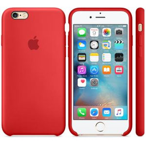 coque apple iphone 6 silicone rouge