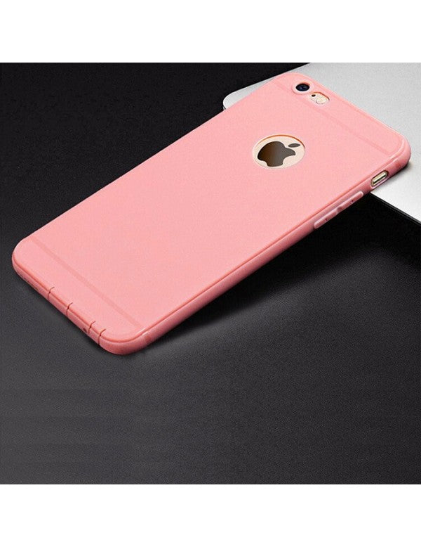 coque iphone 6 silicone rose pale
