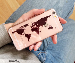 coque iphone 6 transparente map londe