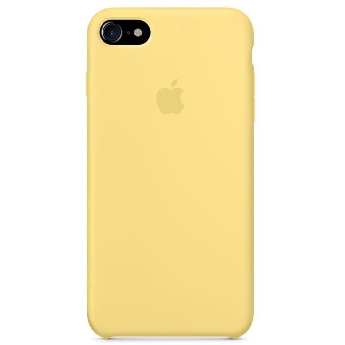 coque iphone 8 apple jaune