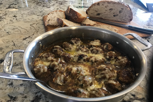 French Onion style Turkey Meatballs