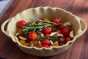 Roasted Tomatoes with Garlic, Olive Oil and Rosemary