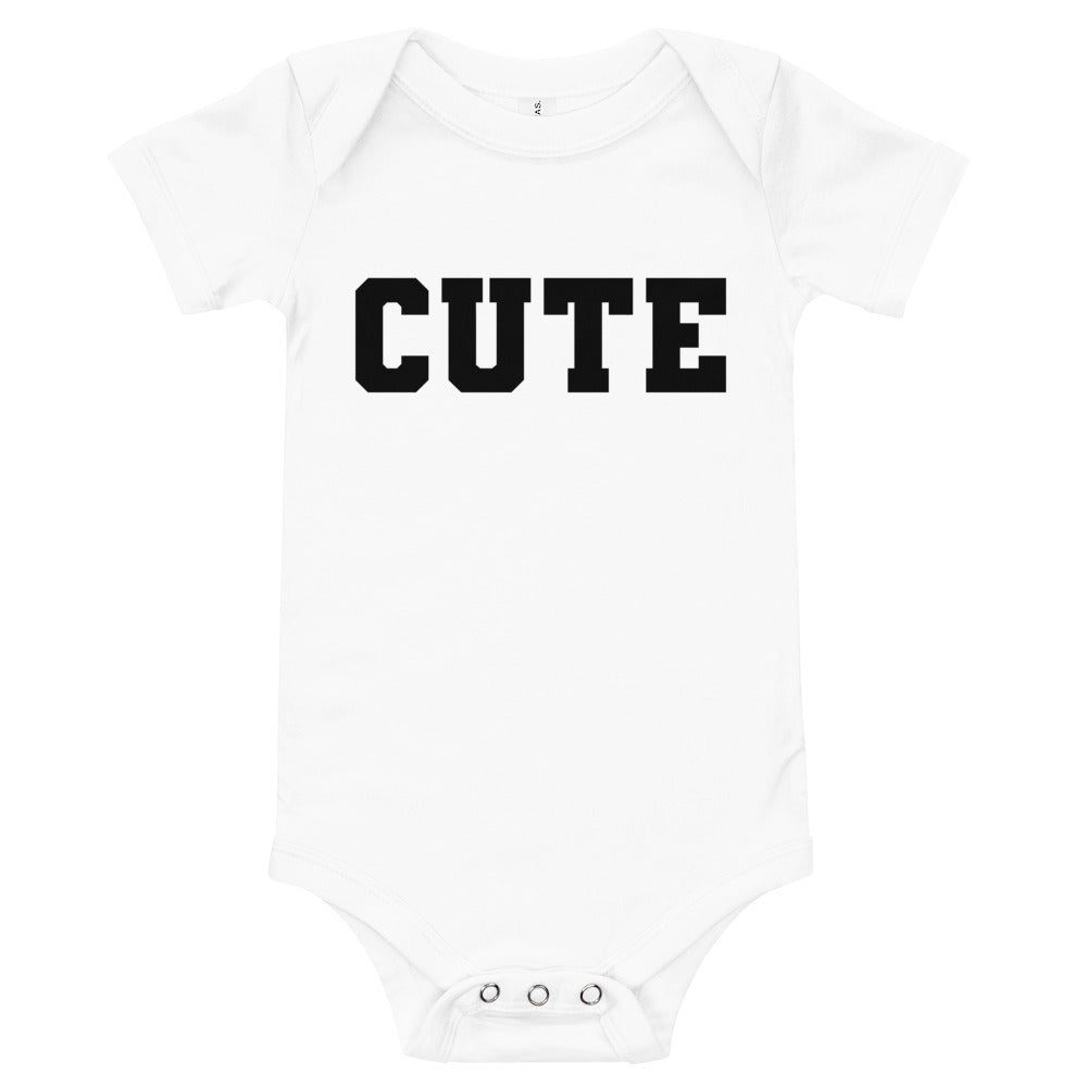 Cute Baby Onesie (White)
