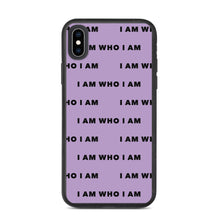 Load image into Gallery viewer, I Am Who I Am Biodegradable iPhone Case (Purple)