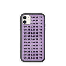 Load image into Gallery viewer, WDII Repeat Logo Biodegradable iPhone Case (Purple)