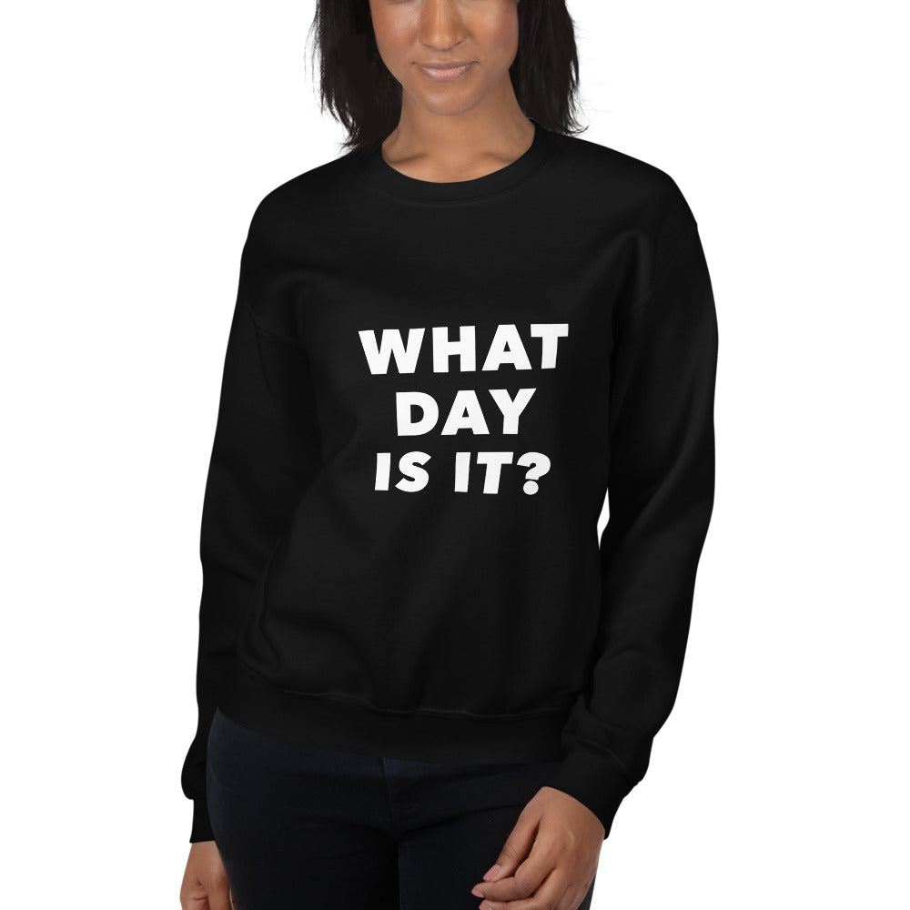 What Day Is It? Oversized Crew (Black)