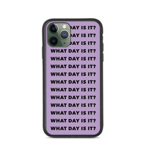 WDII Repeat Logo Biodegradable iPhone Case (Purple)