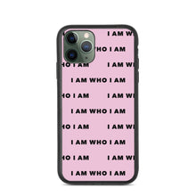Load image into Gallery viewer, I Am Who I Am Biodegradable iPhone Case (Pink)