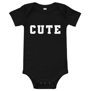 Cute Baby Onesie (Black)