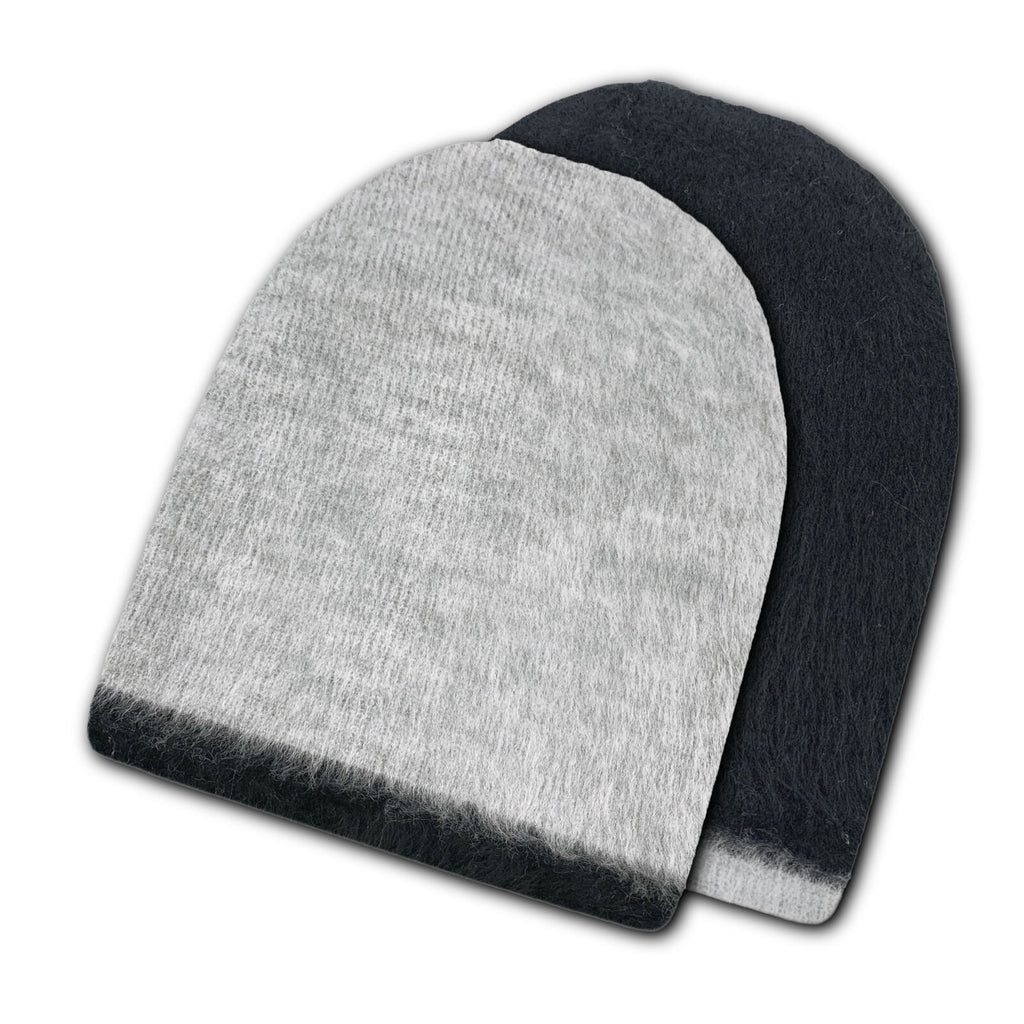 Reversible Alpaca Wool Brushed Unisex Beanies Handmade In Ecuador