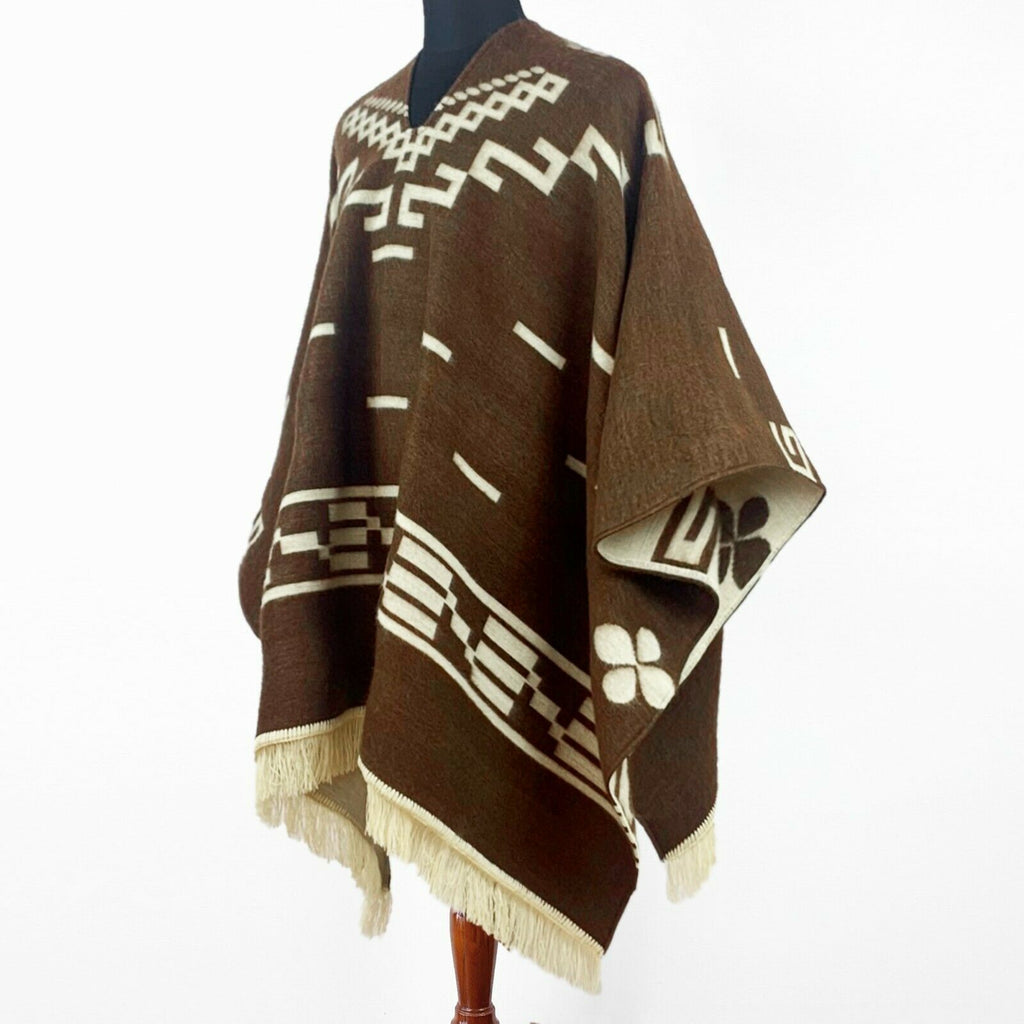 Clint Eastwood Poncho cowboy Serape replica handmade of Alpaca wool Unisex - brown