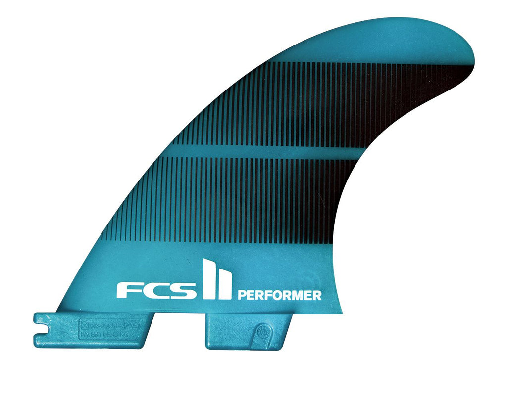 FCS II Performer Neo Glass Medium Teal Gradient Quad Fins