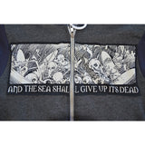 mens boneyard skeleton zip-up hoody