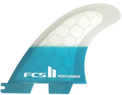 FCS II Performer PC Teal Tri Fins