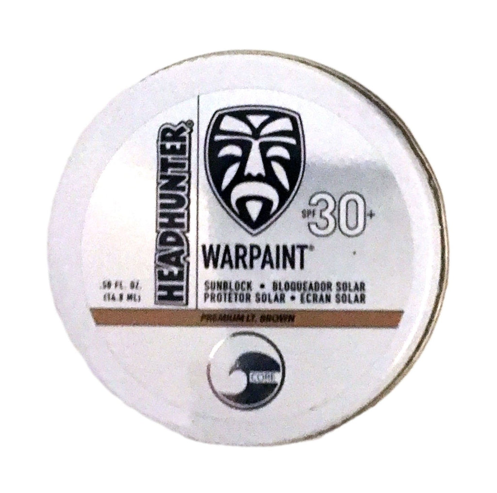 Headhunter War Paint Sunblock SPF-30 Lt Brown 0.5 Oz