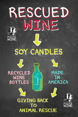 The candle making process with Rescued Wine