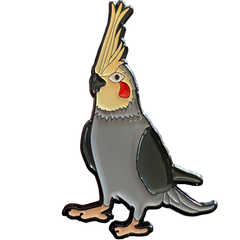 Cockatiel Enamel Pin