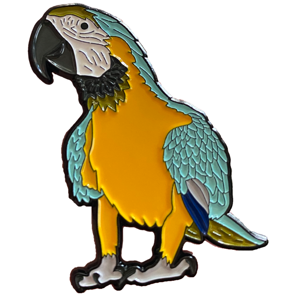 Blue and Gold Macaw Enamel Pin