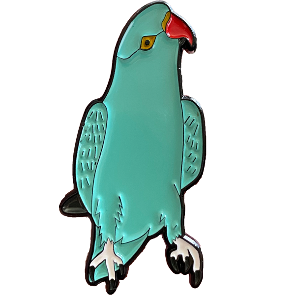 Indian Ringneck Parakeet Enamel Pin