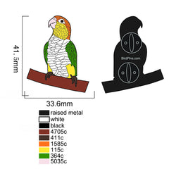 White Bellied Caique Enamel Pin
