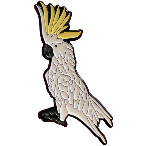 Sulphur-Crested Cockatoo Enamel Pin