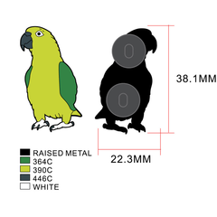 Yellow-naped Amazon Enamel Pin