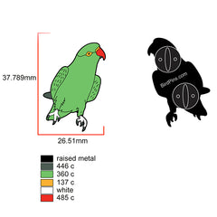 Green Indian Ringneck Parakeet Enamel Pin