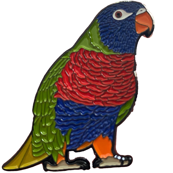 Rainbow Lorikeet Enamel Pin