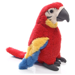 Red Macaw Parrot Plush