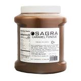 Sagra Signature Fountain Caramel is absolutely delicious and made just for chocolate fountains. Best of all it requires absolutely no additional water or oil to run perfectly in your chocolate fountain. Just pour in the bowl of your chocolate fountain, turn the chocolate fountain on and watch caramel as it perfectly flows around the chocolate fountain.