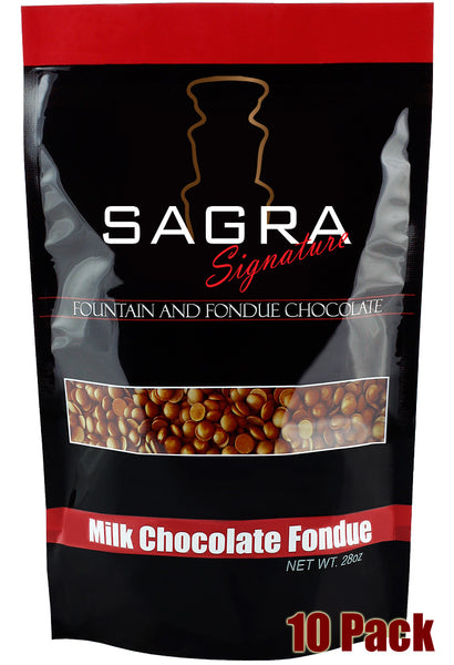Sagra Signature Milk Fountain Chocolate Fondue