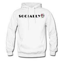 Load image into Gallery viewer, Socially Distant Hoodie - white