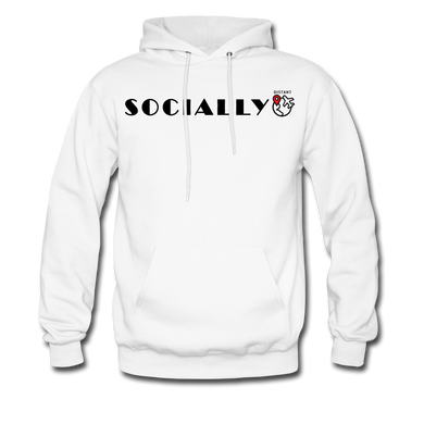 Socially Distant Hoodie - white