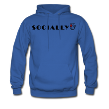 Load image into Gallery viewer, Socially Distant Hoodie - royal blue