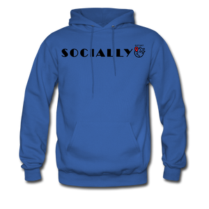 Socially Distant Hoodie - royal blue