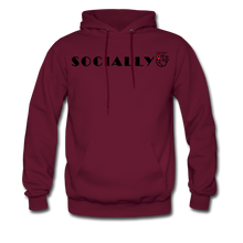 Load image into Gallery viewer, Socially Distant Hoodie - burgundy