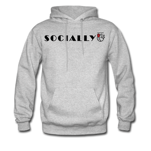 Socially Distant Hoodie - heather gray