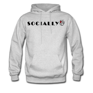 Socially Distant Hoodie - ash
