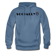 Load image into Gallery viewer, Socially Distant Hoodie - denim blue