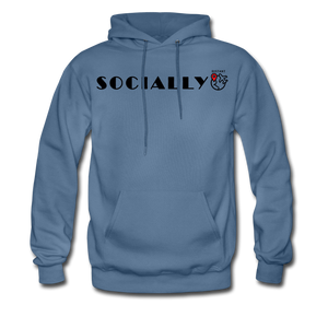 Socially Distant Hoodie - denim blue