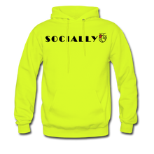 Load image into Gallery viewer, Socially Distant Hoodie - safety green